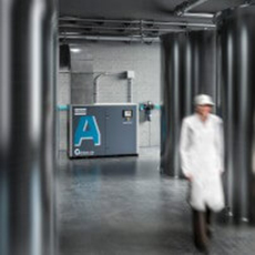 Atlas Copco - Water-injected oil-free screw compressor - AQ