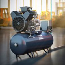 Atlas Copco - Oil-lubricated Piston Compressor - LE, LT