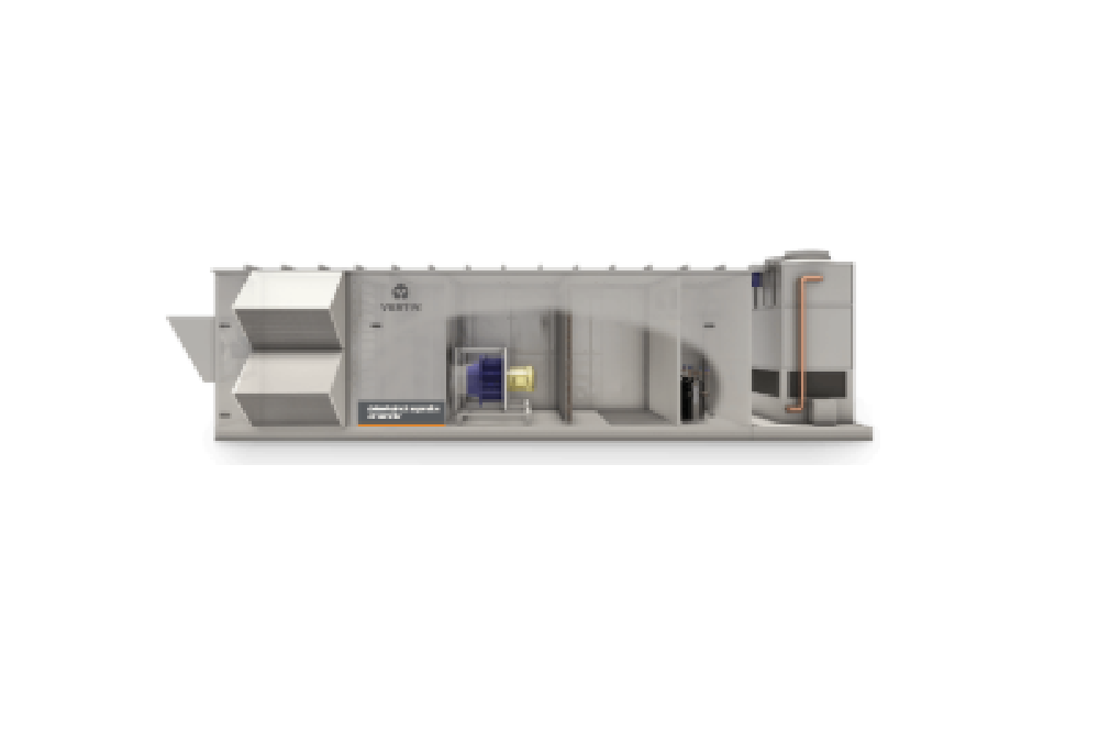 The Liebert DX Air Handler delivers data center efficiency with the flexibility for modular build outs. Multiple configurations include outside air economization, evaporative condensing and evaporative cooling to reduce energy consumption.
